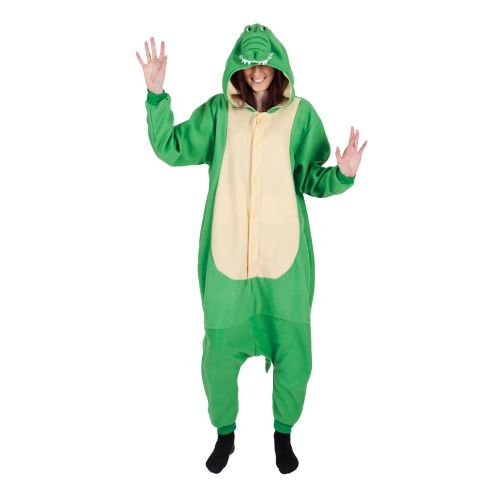 Adult Unisex Crocodile Fleecy All in 1 Costume Outfit for Animals Fancy Dress Crocodile